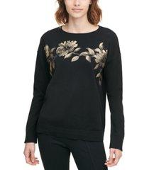 calvin klein cotton metallic sweater