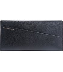 smythson panama grained-effect wallet - black