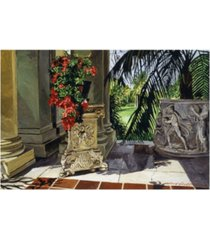 "david lloyd glover huntington loggia azaleas canvas art - 37"" x 49"""