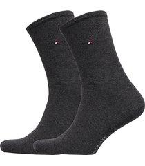 th women sock casual 2p lingerie hosiery socks grå tommy hilfiger
