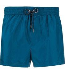 dolce & gabbana zipped pocket swim shorts - blue