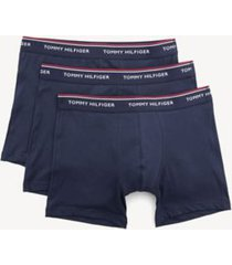 tommy hilfiger men's classic cotton boxer brief 3pk peacoat - l