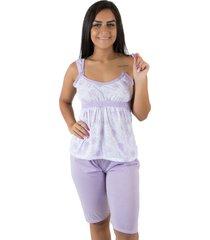 pijama linha noite pescador lilás