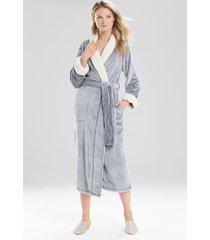 natori sherpa long robe, women's, black, size xl natori