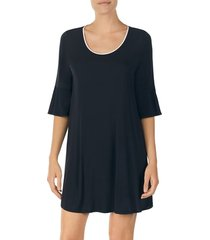 women's kate spade new york bell cuff sleep shirt, size small - black