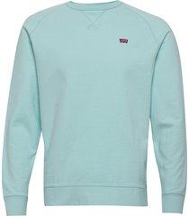 original hm icon crew clearwat sweat-shirt trui blauw levi´s men