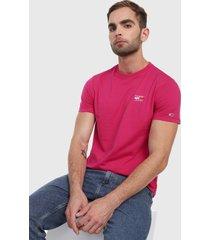 camiseta fucsia tommy jeans