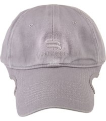 balenciaga woman grey sporty b baseball cap