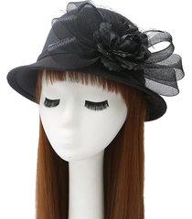 otoño e invierno sombreros damas aristocráticas gasa plumas flor sombreros