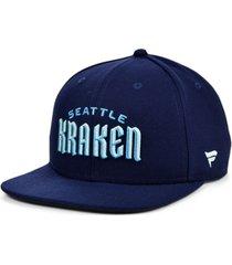 authentic nhl headwear seattle kraken core snapback cap