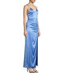 diana v-neck high slit maxi dress