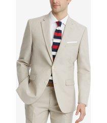 tommy hilfiger men's modern-fit flex stretch tan suit jacket