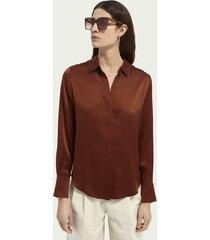 scotch & soda klassieke zijden blouse