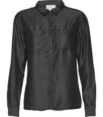15 the denim shirt overhemd met lange mouwen zwart denim hunter