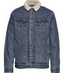 sherpa jacket jeansjacka denimjacka blå lee jeans