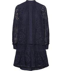 abelina saja dress jurk knielengte blauw bruuns bazaar