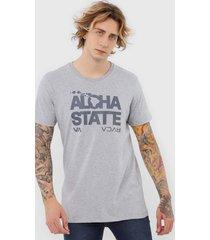 camiseta rvca bold hawaii cinza