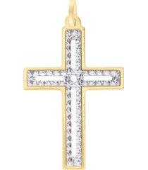 ciondolo holy oro bicolore per donna