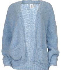 alpaca vest bernelle  blauw