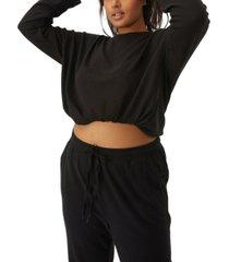 cotton on trendy plus size super soft draw cord crew sweater