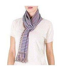 cotton scarf, 'atitlan sunset' (guatemala)