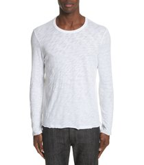 men's atm anthony thomas melillo destroyed long sleeve t-shirt, size xx-large - white