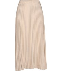 slfalexis mw midi skirt b knälång kjol beige selected femme