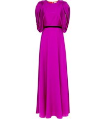 roksanda draped belted gown - purple