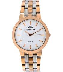 reloj dorado montreal slim