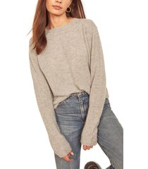 women's reformation cashmere sweater, size x-large - grey