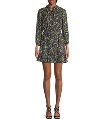 love ady women's floral fit-&-flare dress - rust multi - size m