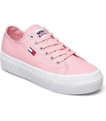 tommy jeans flatform vulc sneakers skor rosa tommy hilfiger