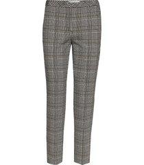 crop leisure trouser pantalon met rechte pijpen grijs gerry weber edition