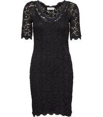 dress ss knälång klänning svart rosemunde