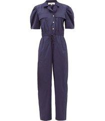 marine cotton-blend jumpsuit