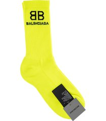 balenciaga man yellow and black bb corporate socks