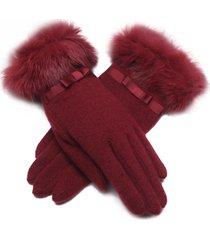 lyza donna autunno caldo in lana piena di dita guanti viaggio invernale elegante guanti