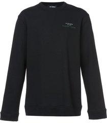 raf simons long sleeved pullover - black