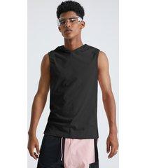 basics koyye camiseta sin mangas lisa sin mangas informal con capucha para hombre