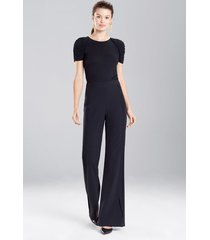 bistretch solid pants, women's, black, size 8, josie natori