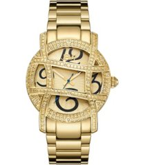 jbw women's olympia diamond (1/5 ct.t.w.) 18k gold plated stainless steel watch