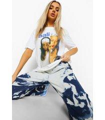 gelicenseerd aaliyah t-shirt, white