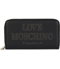 faux leather continental wallet