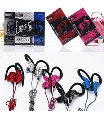 audífonos bluetooth deportivos inalámbricos, auriculares de la grieta st-003 auricular sin hilos del deporte del auricular de audifonos bluetooth manos libres  (rojo)