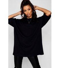 basic washed oversized t-shirt, black