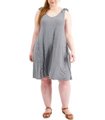 style & co gingham sleeveless dress, created for macy's