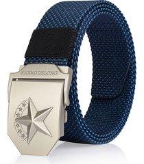 125cm casual nylon fibbia liscia cintura tela tattica traspirante durevole cintura per uomo