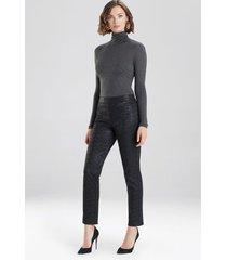 natori printed leopard stretch pants, women's, size xs