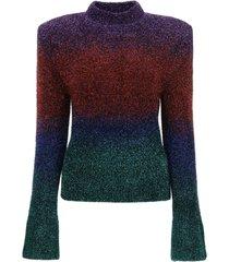 the attico lurex yarn sweater
