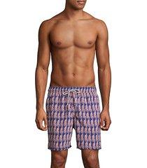 fern-print swim shorts